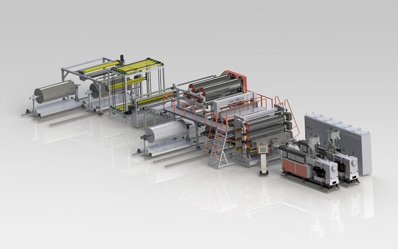 PVC、CPE防水卷材生产线
