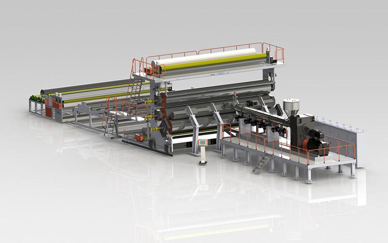 PE土工膜/防水卷材生产线